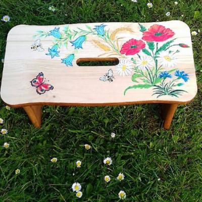 Drevený stolček, šamlík