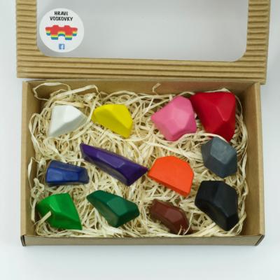 12 kusov voskoviek KAMENE v krabičke