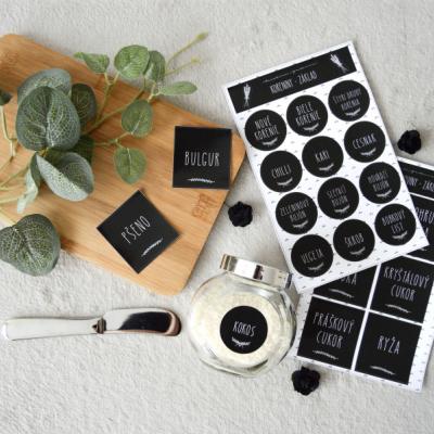 Elegantné etikety do kuchyne
