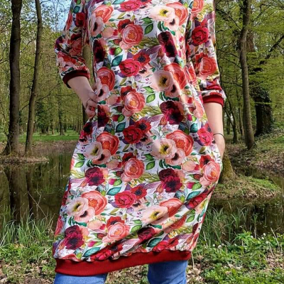 🌹 Šaty Ruže- Plus size 🌹