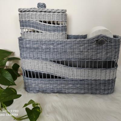 Zásobník na toaletný papier a košík na dámsku hygienu