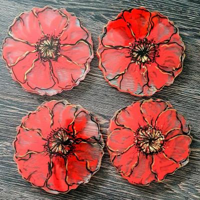 Set podtacok Cerveny Mak