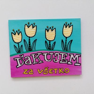 ručne maľovaná magnetka