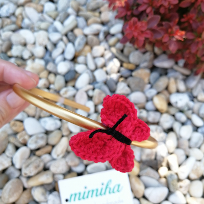 Čelenka motýlik červený