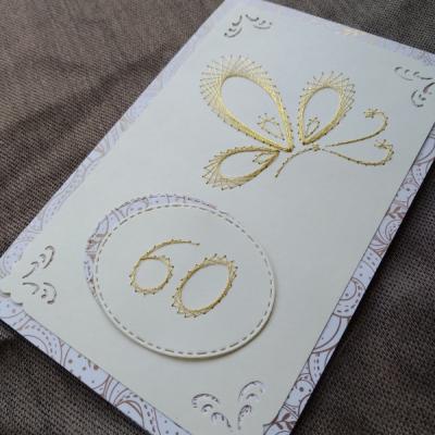 Magic card motýľ výročie zlatý