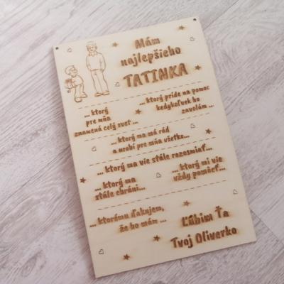 Tabuľka pre otca