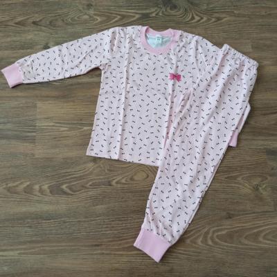 Dievčenské bavlnené pyžamo dlhé