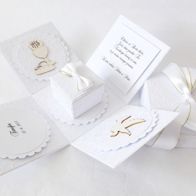 Exploding box - darčeková krabička k prvému svätému prijímaniu