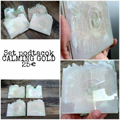 Set podtacok CALMING gold