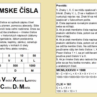 RÍMSKE ČÍSLA - pdf