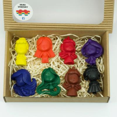 8 kusov voskoviek DISNEY PRINCEZNÉ v krabičke