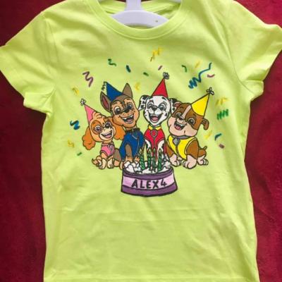 Maľované tričká, Narodeninové tričká
