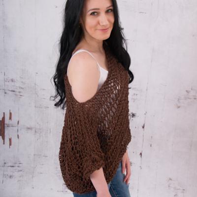 Letný oversized top - bavlna