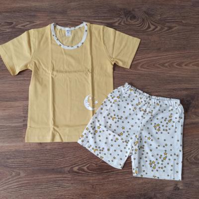 Dievčenské bavlnené pyžamo krátke