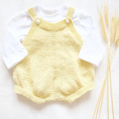 Pletené body VANILKOVÉ- 100% organická bavlna