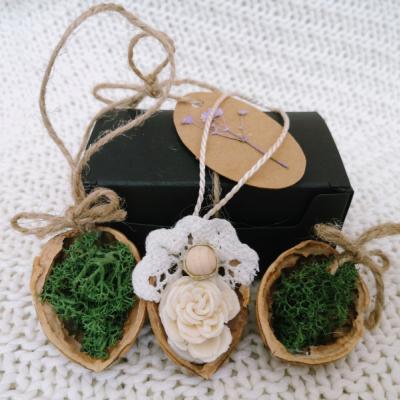 Sada 3 ks prírodných ozdôb v darčekovej krabičke