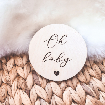 Drevený míľnik - Oh baby