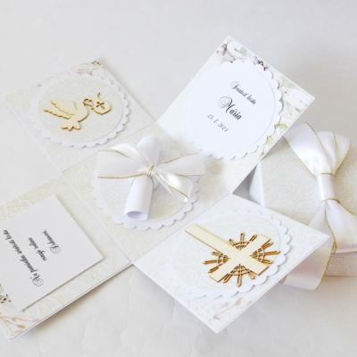 Exploding box - darčeková ku krstu