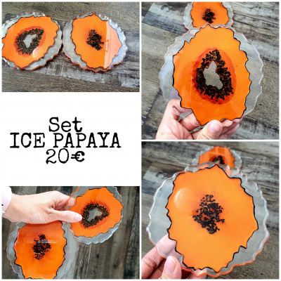 Set podtacok ICE PAPAYA