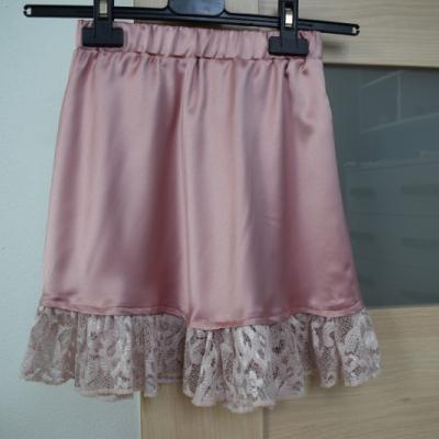 Dievčenská saténová suknička