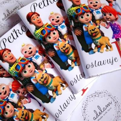 Čokoládky pre deti do škôlky, školy, na oslavy a svadby do Candy baru