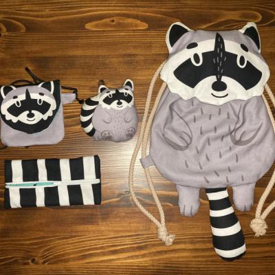 Medvedík čistotný - Sada na chrbátik - batôžtek, peňaženka/kapsicka, peračník, hračka
