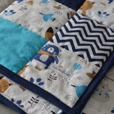 Patchwork hracia deka, 100x100cm, Lesné zvieratká
