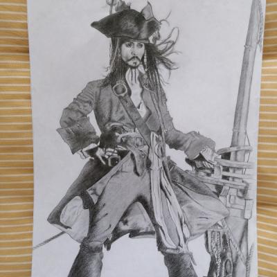 Portrét Kapitán Jack Sparrow
