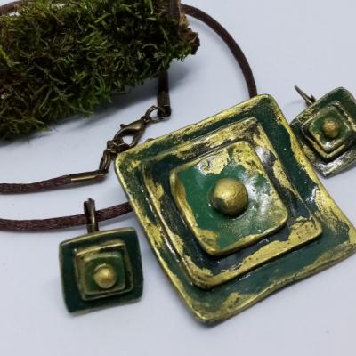 Zeleno-zlaté štvorce