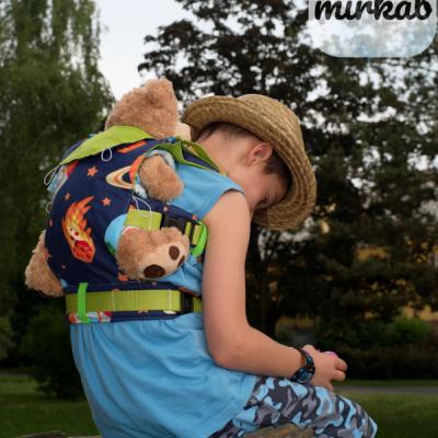 Detský nosič pre bábiku/hračku/plyšáka - vesmír