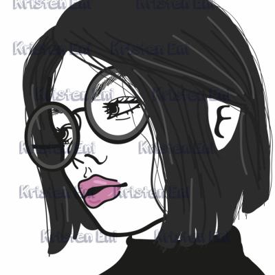 Digitálna kresba ženy 02