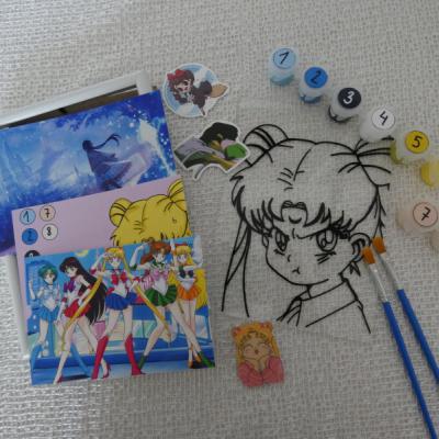 Sailor Moon - Namaľuj si sám ( maľované sklo )