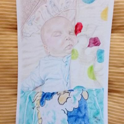 Rodinný portrét bábätka