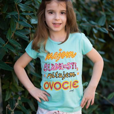 Tričko  Nejem sladkosti, milujem ovocie