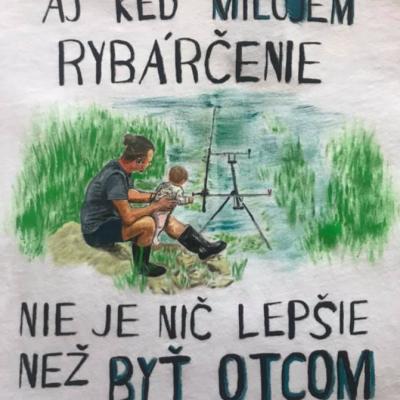 Rybárske tričko, Maľované tričko