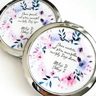 zrkadielko Kvety modrofialové