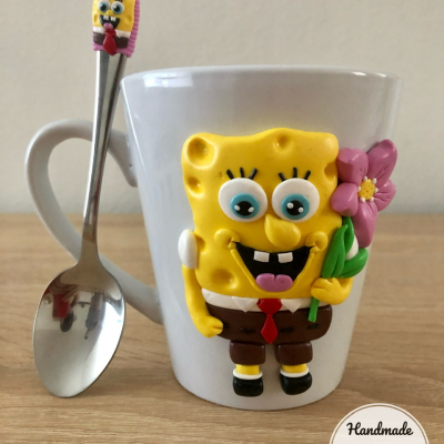 Hrnček Spongebob + lyžička