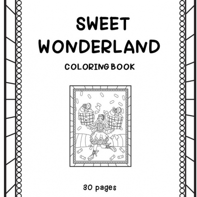 Sweet Wonderland - omaľovanky