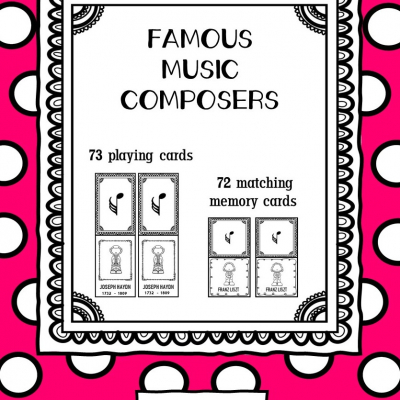 Famous Music Composers - hracie karty