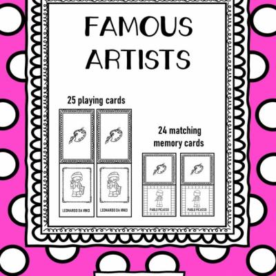 Famous Artists - hracie karty