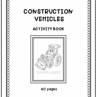 Construction Vehicles - aktivity book