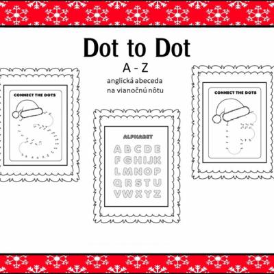 Vianočná abeceda - dot to dot