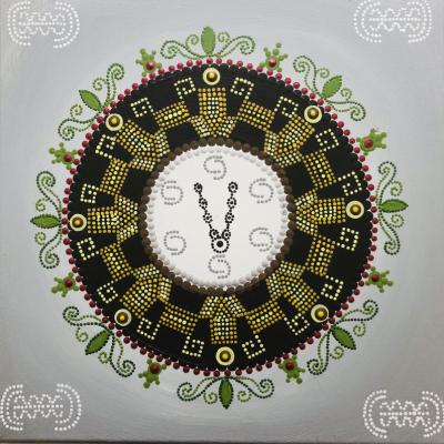 Osobná mandala Kov-Zem-Drevo-ukážka tvorby