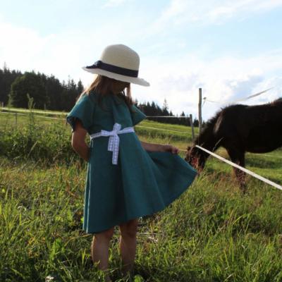Detské ľanové šaty