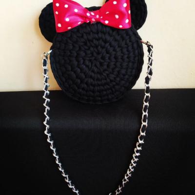 Minnie Mouse háčkovaná kabelka