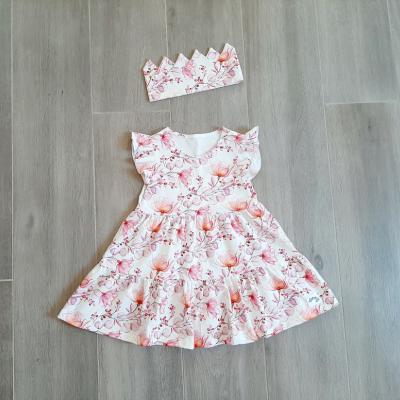 Volánové šaty + korunka, veľ. 80-98