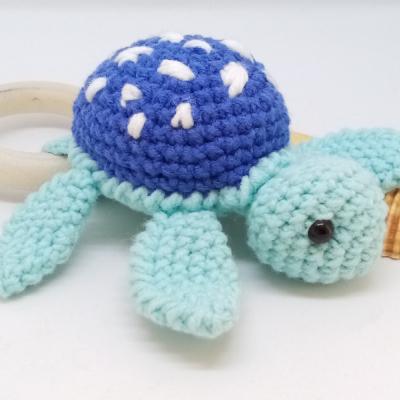 Tyrkysová korytnačka -hrkalka/hryzadlo