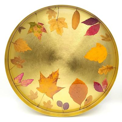 Mosadzný podnos _ Zlatá jeseň