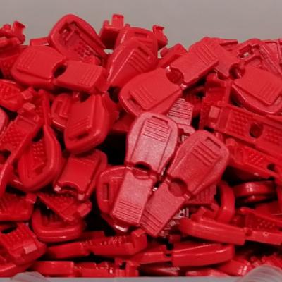 Plastová koncovka - zamačkávacia (pár)