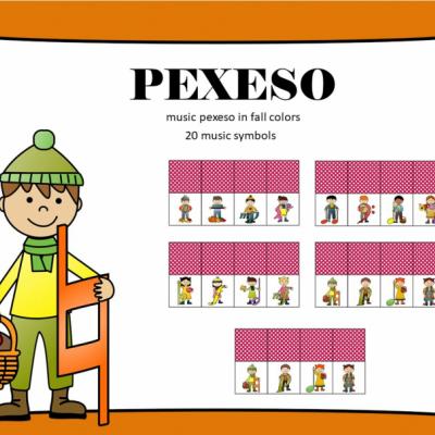 Pexeso - hudobné znaky v jeseni